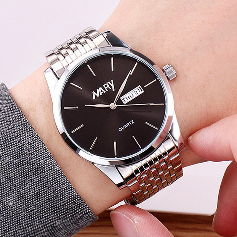 Man Watch 2019 Top Luxury Brand Nary Watch Fashion Business Men Watches Stainless Steel Day Date Quartz Watch Mens Watches