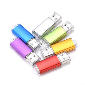 usb flash drive 7 colors metal pendrive 8GB 16GB 32GB 64GB pen drive creative memory stick U disk for gift