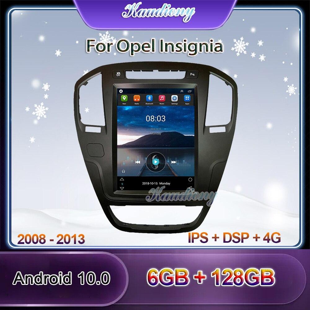 Автомагнитола Kaudiony, мультимедийный проигрыватель на Android 10,4, 10,0 дюйма, GPS, 4G, 2008-2013 ГГц, для Opel Insignia Buick Regal