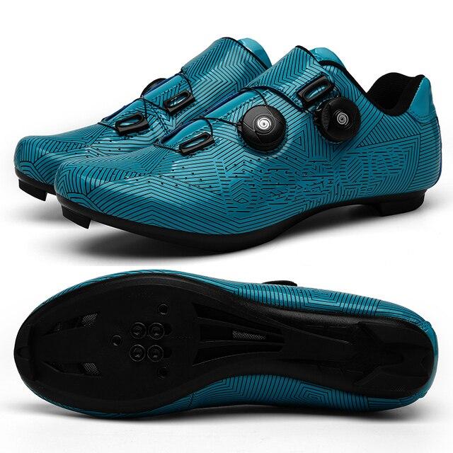 Homem ciclismo tênis mtb sapatos mulher ciclismo respirável auto-bloqueio sapatos de bicicleta de estrada tênis de corrida atlético 1