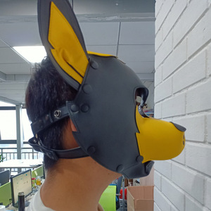 Image 2 - Imitation Leather Sexy Toy Puppy Play Dog Cosplay Mask  Fetish Sex Hood Pet Role Accessories