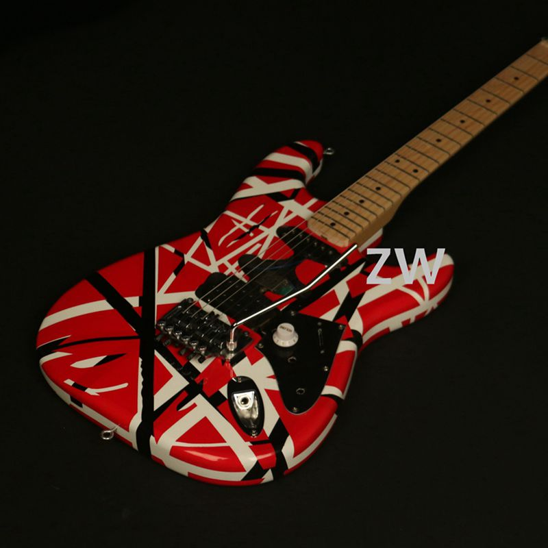 Handmade Painting Vintage ST Electric Guitar FR Bridge Good Job