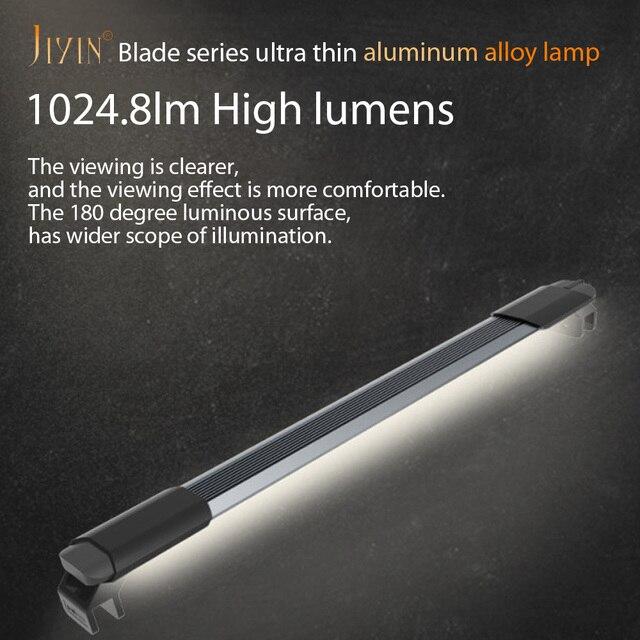JIYIN Ultra cienka akwarium oświetleniowa lampa LED lampa do akwarium wodoodporna nurkowanie nadaje się do małe akwarium uchwyt z przyssawką 8-46cm