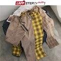 LAPPSTER-Jugend Streetwear Schwarz Plaid Hosen Männer Jogger 2020 Mens Gerade Harem Hosen Männer Koreanische Hip Hop Hosen Plus größe