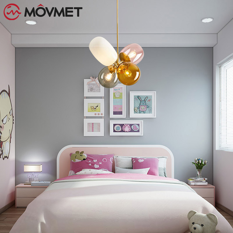 Loft Modern Pendant Light Glass Ball Hanging Lamp Kitchen Light Fixture Dining Hanglamp Living Room Luminaire - 3