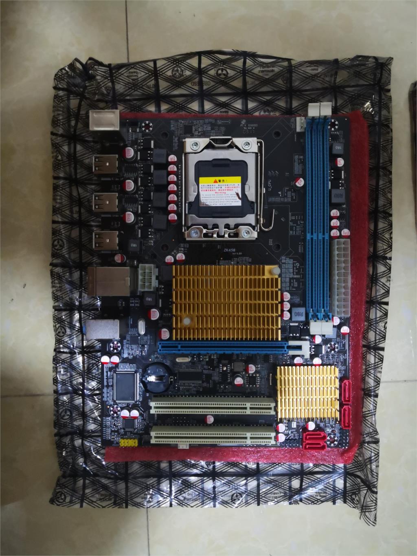 OEM X58  X58M  Server Motherboards LGA 1366 DDR3 ECC Quad-Core CPU 16GB All-Solid X58 Desktop Motherboard