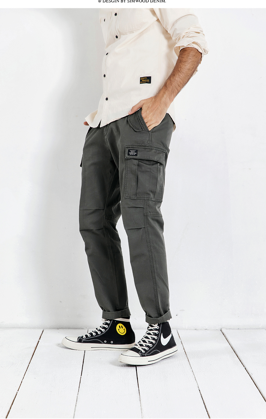 Hafd9929c68b24e0c975997726d4330f6l SIMWOOD New 2019 Casual Pants Men Fashion track Cargo Pants Ankle-Length military autumn Trousers Men pantalon hombre 180614