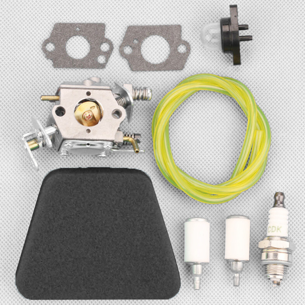 Carburetor Air Filter Kit For Partner 351 352 370 371/Poulan/McCulloch Mac Chainsaw Part Number 5300718–21/For Walbro 33–29