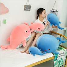 Cute Whale Doll Plush Toy Stuffed Animal Toys Soft Pillow Cushion Children Valentines Day Gift