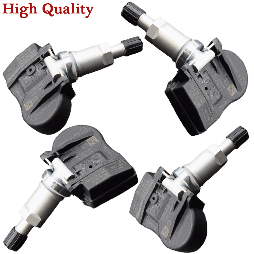 4Pcs 52933-2B000 529332B000 52933 2B000 433MHz TPMS Sensor Tire Pressure Monitoring Warning Sensor For KIA Hyundai