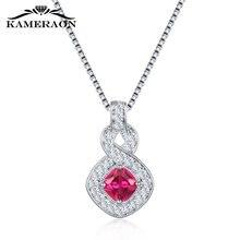 Ожерелье с подвеской из стерлингового серебра 925 пробы модное