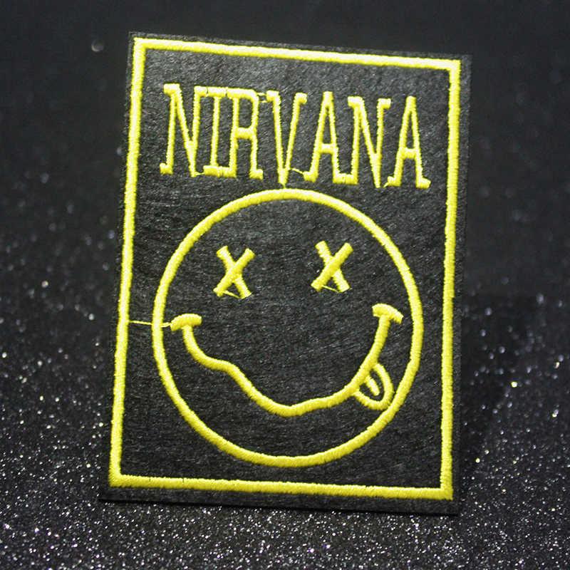 Remendo de pano remendo da faixa da música de pulaqi hakuna matata emblema remendos bordados diy para a roupa apliques do logotipo do punk letra f