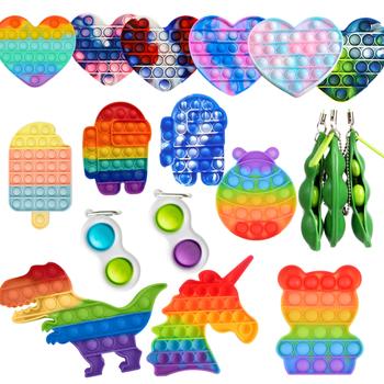 2021 nowy Push Pop Pop Bubble sensoryczna zabawka spinner s silikonowe zabawki antystresowe wycisnąć zabawka Pop It zabawka spinner zabawka antystresowa tanie i dobre opinie CN (pochodzenie) Dzieci kostiumy fidget toys Fidget Reliver Stress Toys Hot Push Bubble Fidget Toys
