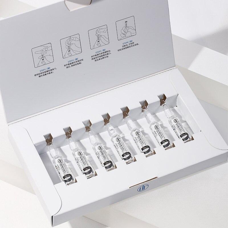 7Pcs Anti-Aging Straffende Ampulle Serum Hebe Feuchtigkeitsspendende Gesichts Essenz Anti-Falten Behandlung Feine Linien Hautpflege für 7 Tage