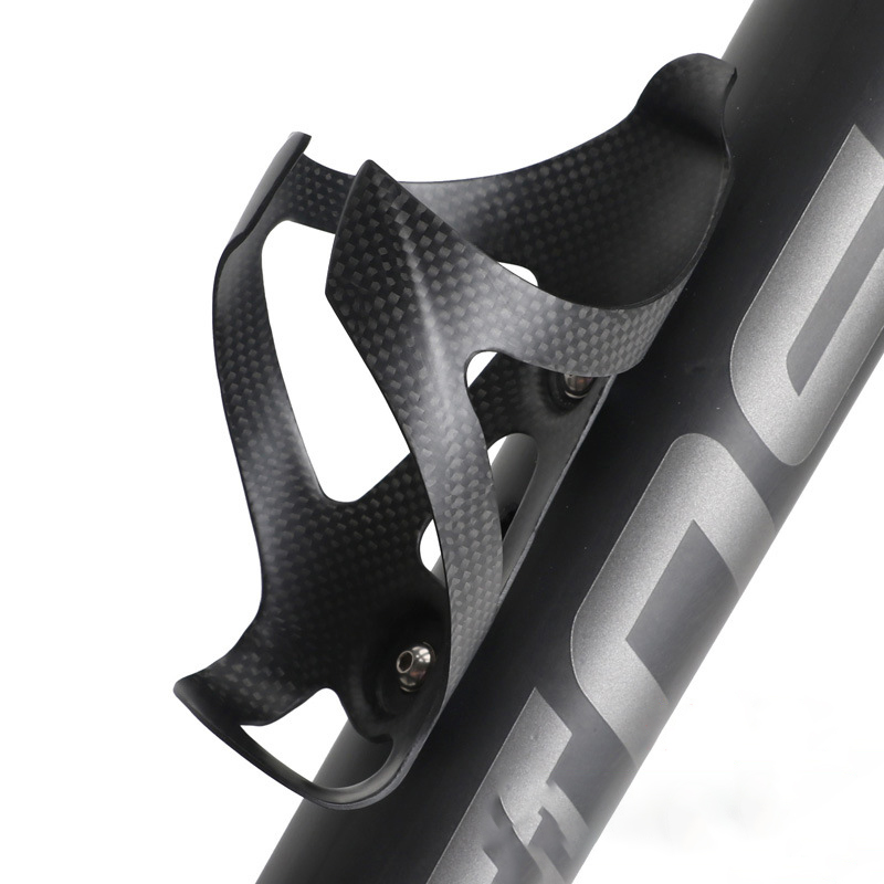 Deemount 25g Carbon Fiber Bottle Cage 3K Matte Furnish Bicycle Cycling Water Bottle Holder Comes Optional Titanium Bolts