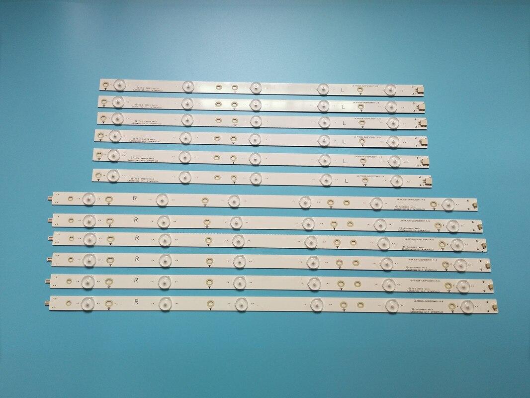 Nova 12 Pçs/set Tira Retroiluminação LED Para LC-50LB370U 50LB371U 50LB261U 500TT65 500TT66 V1 LC-50LB261U 500TT61 V0 500TT62 50