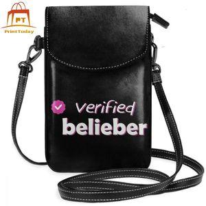 Image 1 - ジャスティンビーバーショルダーバッグ検証belieber革バッグ高品質パターン女性のバッグクロスボディ女性十代財布