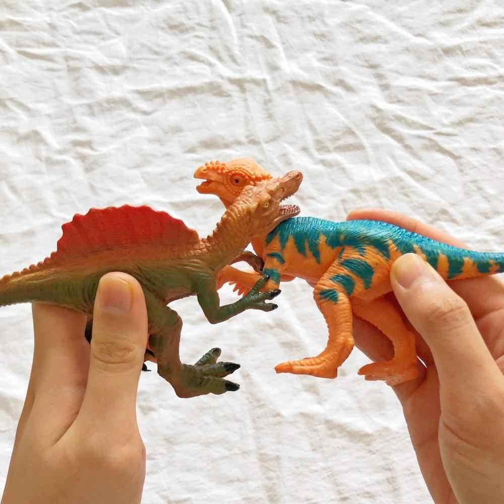 Park jurajski dinozaury zabawki Model dla dziecka zabawka smok zestaw dla chłopców Velociraptor zwierząt Action Play rysunek One Piece Home Deco
