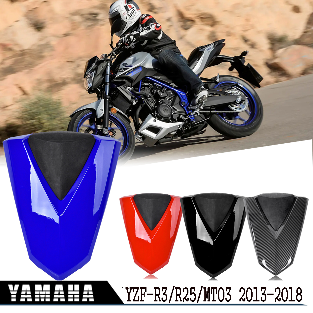 Motorcycle Seat Cowl For Yamaha MT03 2014 YZF R3 R25 Rear Passenger Hard Seat Cover MT 03 MT-03 YZF-R3 YZFR25 2013-2018