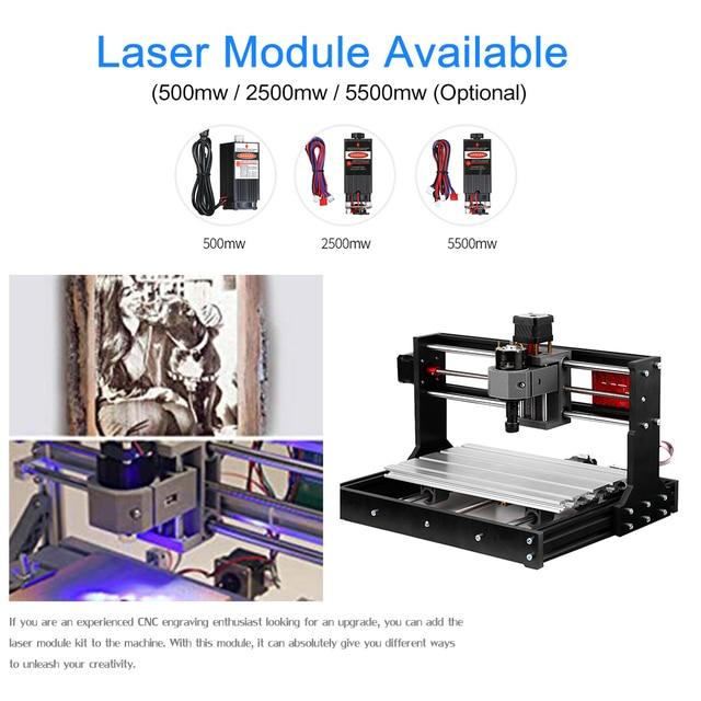 Cnc Laser Engraver Machine Cnc Router 2-Inch Mini Drill Press Vise Upgrade Version CNC 3018 Pro GRBL Control DIY  Wood Engraver