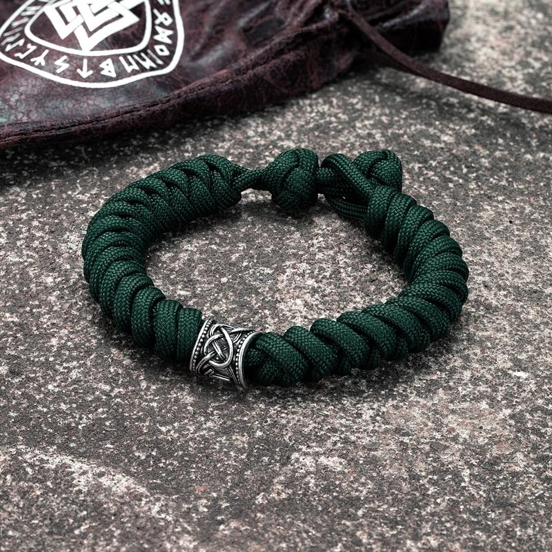 Viking rune survival bracelet