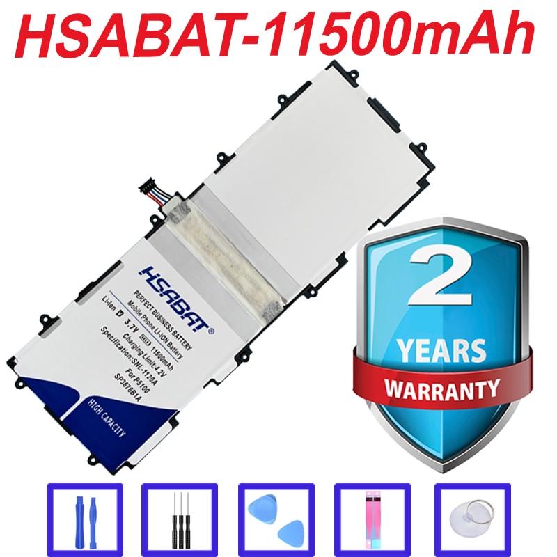 Top 100% New 11500mAh para Samsung Galaxy Note 10.1 GT-N8000 N8005 GT-N8010 N8013 N8020 P7500 GT-P7510 P5100 P5113 Bateria