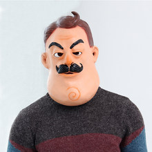 Halloween Horror Game Hello Neighbor Cosplay Masker Latex Helm Party Anime Cosplay Kostuum Props(China)