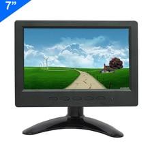 ZHIXIANDA 7 inch 1024*600  with BNC HDMI AV VGA USB input cctv monitor цена и фото