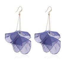 ELEGANCE11 Lotus Earrings for Women Long Dangle Earrings Bohemian 9 Colors Statement Earrings Jewelry Gifts innopes 2019 bohemian long unique women s earrings dangle earrings jewelry earrings