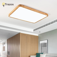 Nordic Simple Modern OAK Wood Ceiling Lamp Ultra thin Japanese LED Ceiling Lights For Bedroom Living Room Kitchen Study Balcony