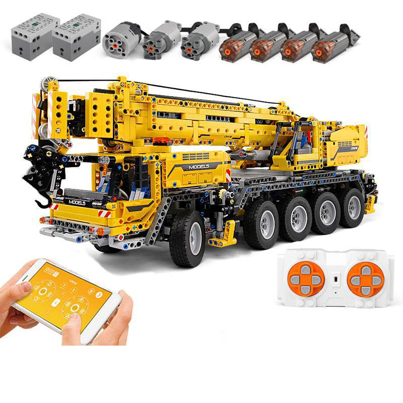 20004 APP Control Technic Car Compatible With <font><b>Legoing</b></font> <font><b>42009</b></font> Mobile Crane MK II Set Kids Christmas Toys Gifts Building Blocks Kit image