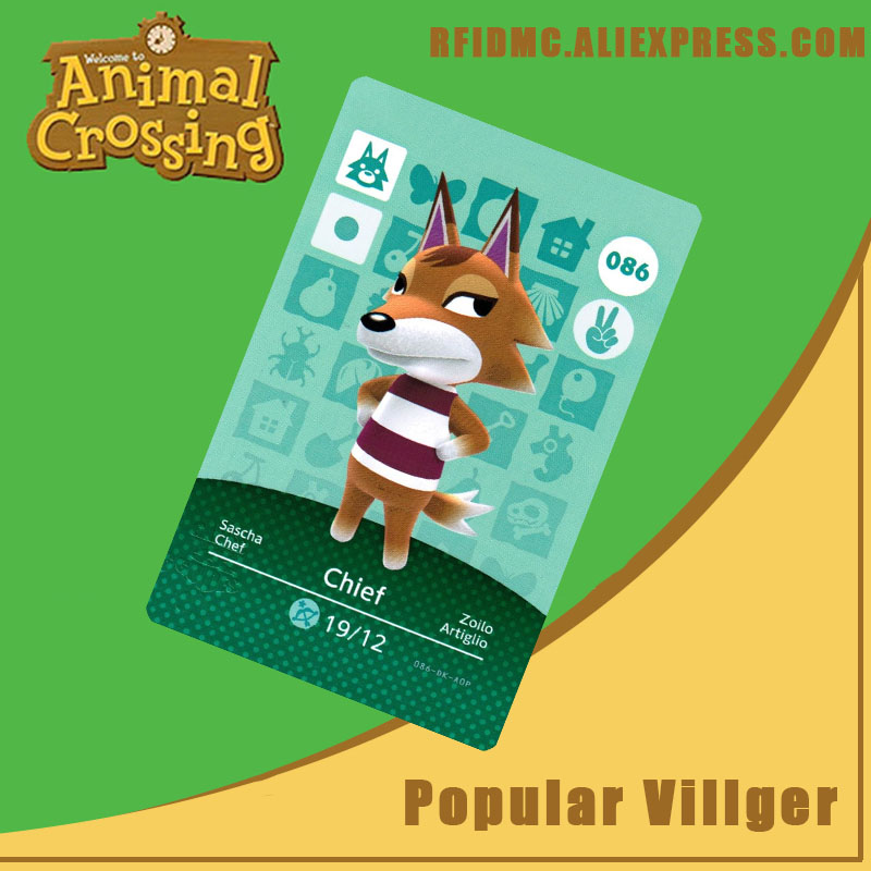 086 Chief Animal Crossing Card Amiibo For New Horizons