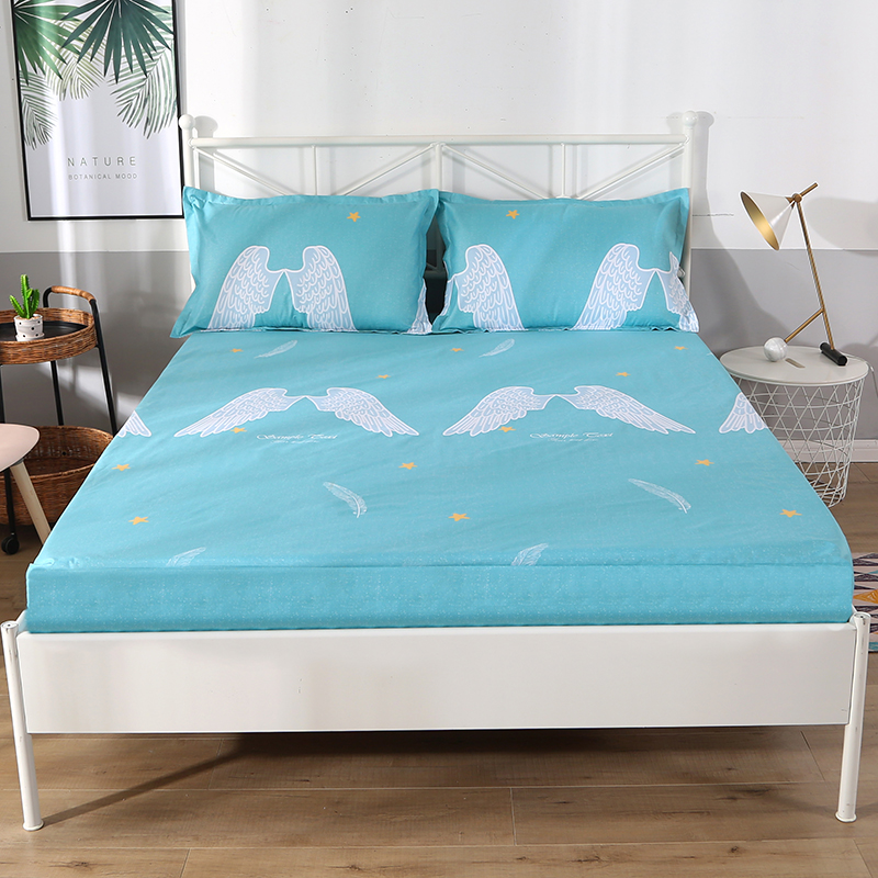 Multi Sizes Home Bed Mattress Cover Waterproof Anti-stain Fitted Bed Sheet Stretch Elastic Home Textile Bed Sheet