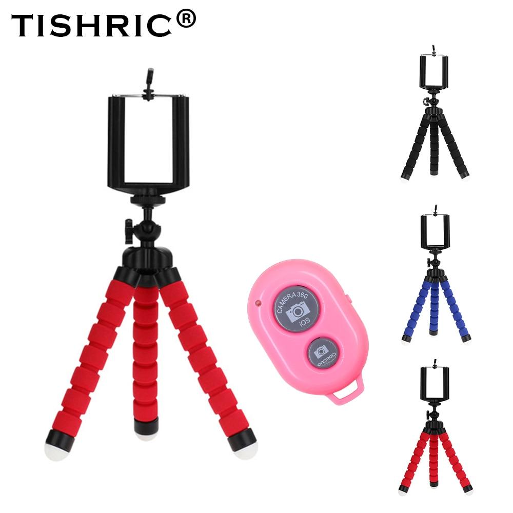 TISHRIC Flexible Bluetooth Self Timer Mobile Phone Holder Tripod for Phone Stand Tripod Bracket 1