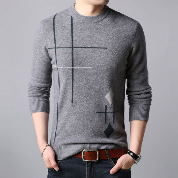 Fashion New Mens Sweater Winter Pullover Round Neck Thickened Warm Men Clothes Man Sweaters Flash Sale