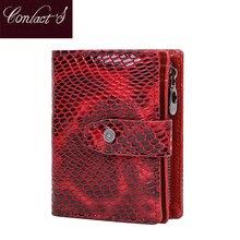 Kontakt mały portfel kobiet prawdziwej skóry kobiet hasp krótkie portmonetki futerał na karty Rfid portfele dla kobiet carteira masculina