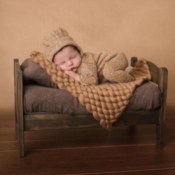 (45x40cm) Handcraft Soft Baby Photo Blanket Basket Stuffer Filler Newborn Photography Props BABY SHOWER GIFT handcraft baby hand knit mohair bonnet baby photography props photography prop on baby shower gift