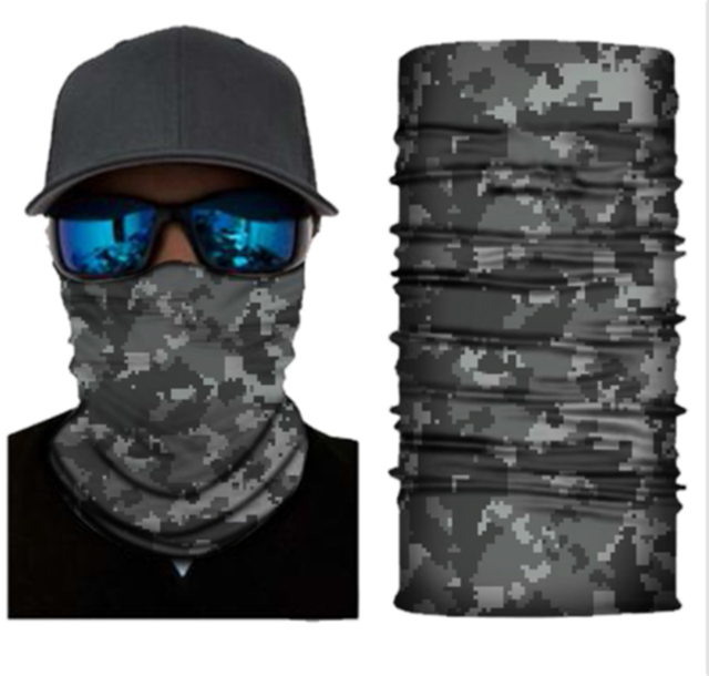 Face Mask Solid Color Face Balaclava Scarf Neck Tube Fishing Shield Sun Gaiter UV Headwear 1