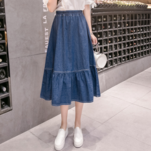 Plus 2020 New Arrival Women Empire Cotton Europe and American Style A-Line Denim Skirts Slim Loose AQ293(China)