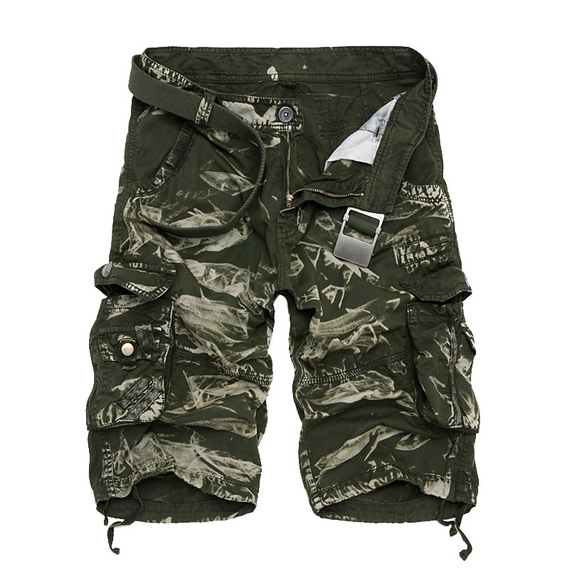 Cargo Shorts Men Cool Camouflage Summer Hot Sale Casual Men Short Pants Brand Clothing Comfortable Camo Men Cargo Shorts