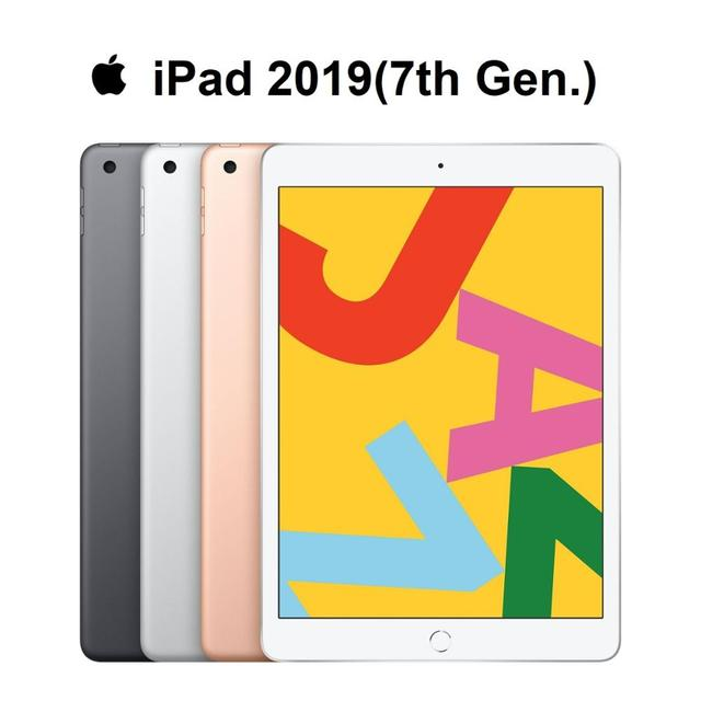 New Original Apple iPad 2019 7th Gen. 10.2″ Retina Display Supporting Apple Pencil and Smart Keyboard IOS Tablet Bluetooth Computer, Office & Security