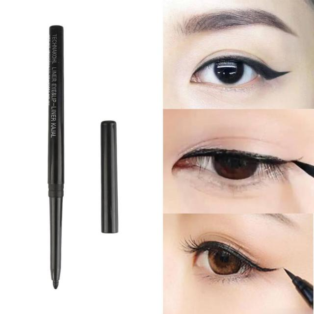1pcs Waterproof Durable Eyeliner Quality Pigment Black Pencil Eyeliner Cosmetics Natural Big Eyes Softening Makeup Tool