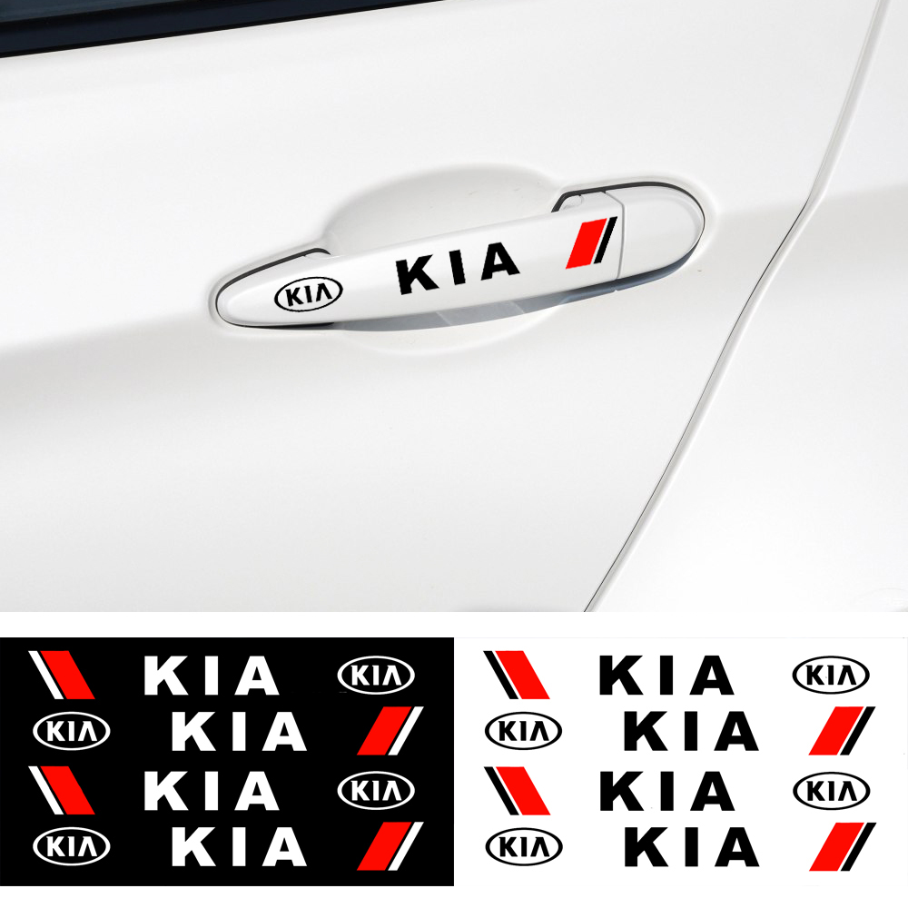 4 X Car Styling Car Door Handle Car Stickers Decoration For Kia Ceed Rio Sportage R K3 K4 K5 Ceed Sorento Cerato Optima