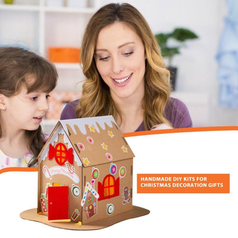 Creative DIY Phenakistoscope Toys Enhance Baby Sense Touch Cute Shape Non-woven Fabric Wreath Handmade Hanging Ornament