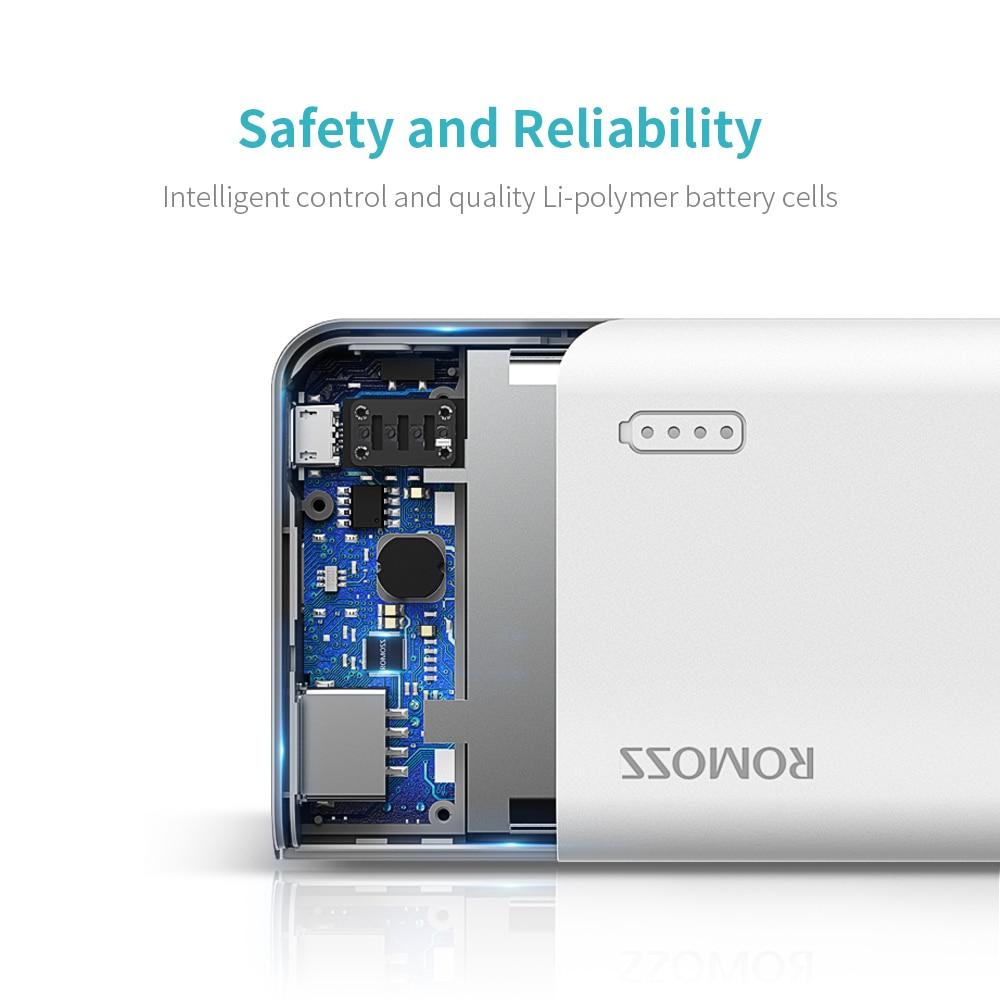 Romoss Sense4 мини внешний аккумулятор 10000 мАч Быстрая Зарядка Внешний аккумулятор 10000 мАч портативное Внешнее зарядное устройство для iPhone Xiaomi huawei