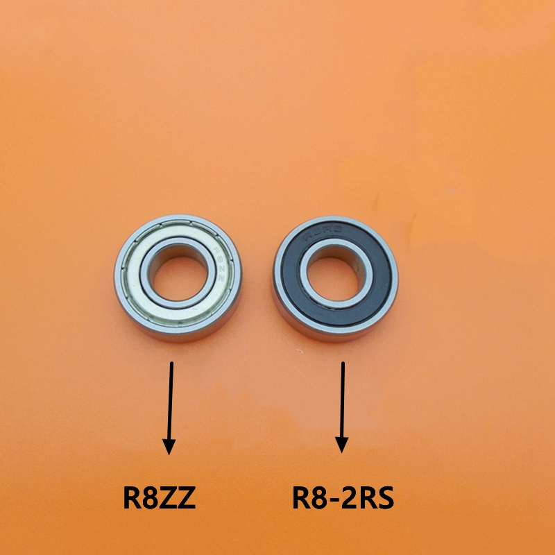 50pcs High Quality R8 R8ZZ R8RS R8-2Z R8Z R8-2RS ZZ RS RZ 2RZ Deep Groove Ball Bearing 12.7x28.575x7.938mm 1/2