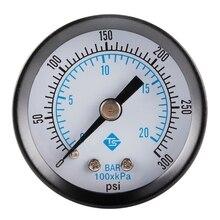 X7XD 0-300Psi Pool Spa Filter Water Pressure Gauge,0-20bar for Air Gas Wate Fuel