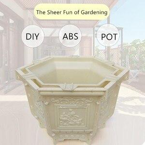 45 см/17,72 дюйма, АБС-пластик, домашний садовый декор, уличный, геометрический бонсай, DIY, лотос, орхидеи, цементный цветочный горшок, плантатор, ...
