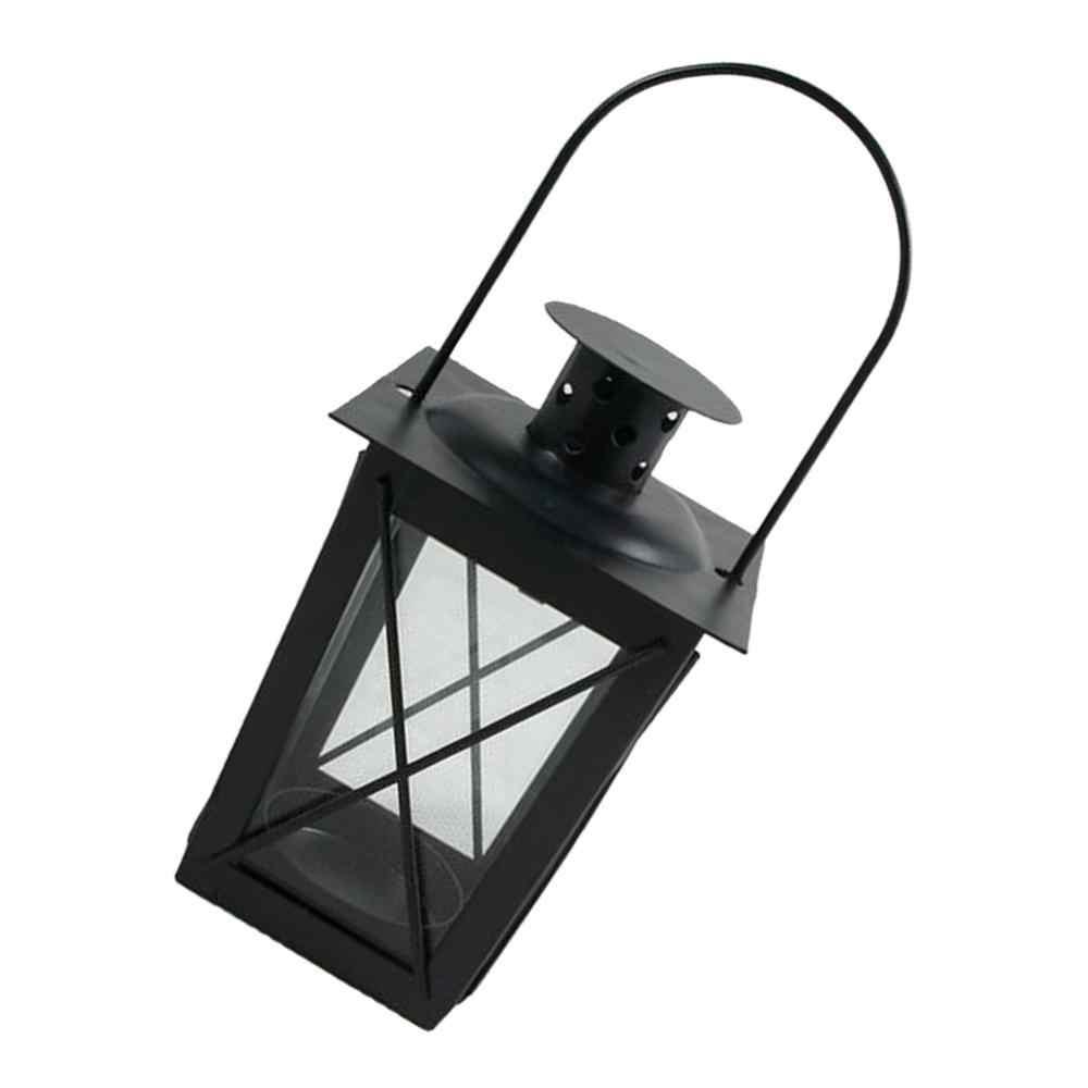 רטרו מרוקאי סגנון פמוט קטן Led פמוט מתכת Tealight נר פנסי שולחן תליית דקור לעיצוב בית