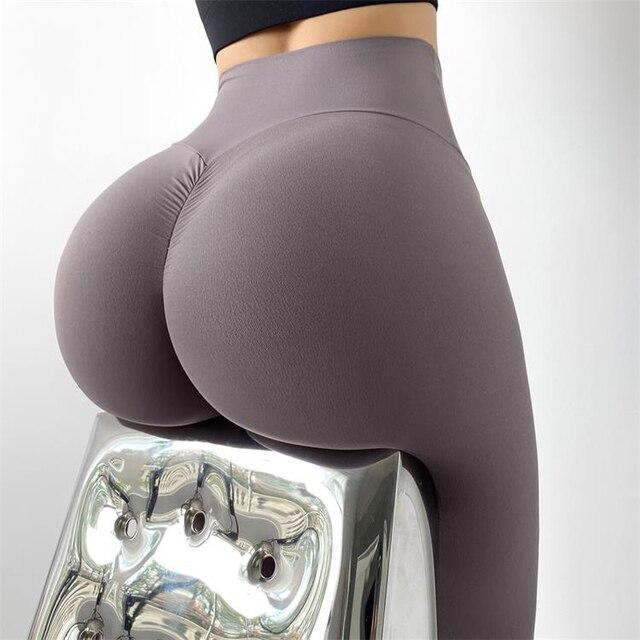Women Leggings Yoga Pants Tights Seamless Solid Color High Waist High Elastic Women's Sports Pants 6